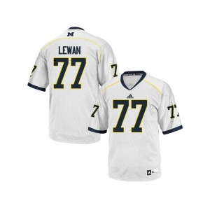 University of Michigan White Game Youth Taylor Lewan Jerseys