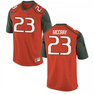Terry McCray Hurricanes Jerseys S-3XL Limited For Men Orange