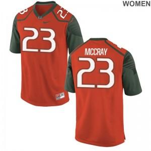 Terry McCray Hurricanes Jersey S-2XL Orange Game Ladies