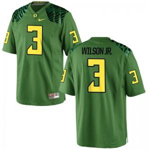 Terry Wilson Jr. Oregon Jersey Game For Men Apple Green