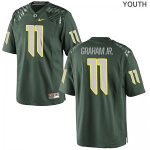 UO Thomas Graham Jr. Jersey S-XL Game For Kids Green