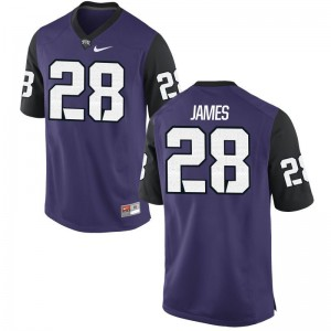 TCU Horned Frogs Tony James Jersey Purple Black For Men Limited