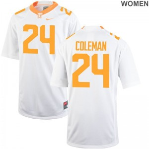 Trey Coleman Vols Jersey Women Limited - White