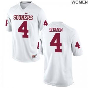 Sooners Trey Sermon Alumni Jerseys White Womens Game