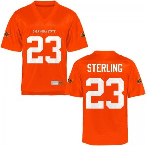 Oklahoma State Cowboys Limited Trey Sterling Mens Orange Jerseys