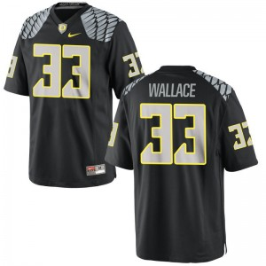 Oregon Ducks Game For Women Black Tristen Wallace Football Jerseys