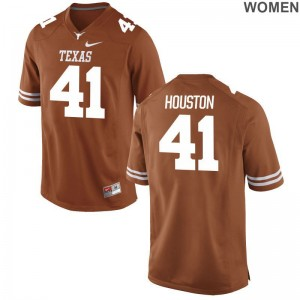 Longhorns College Jerseys of Tristian Houston Game Orange Ladies