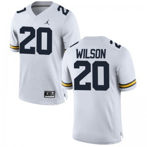 Michigan Jerseys Tru Wilson Jordan White Limited For Men