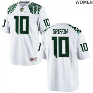 Game Oregon Ty Griffin Women Jerseys S-2XL - White