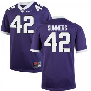 TCU Horned Frogs Limited Ty Summers Mens Purple College Jersey