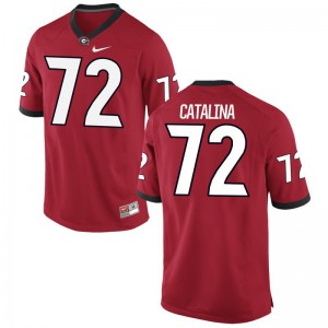 Tyler Catalina Women Red NCAA Jersey University of Georgia Limited