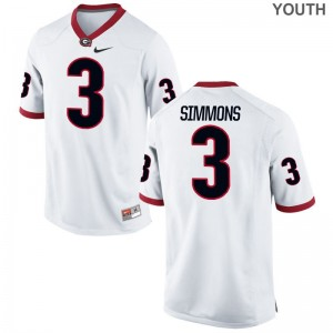 For Kids Limited UGA Bulldogs Jerseys Tyler Simmons White Jerseys