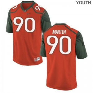 Tyreic Martin University of Miami Jersey S-XL Limited Orange Youth(Kids)