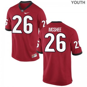 Georgia Bulldogs Tyrique McGhee Youth(Kids) Game Jerseys - Red