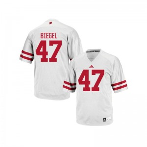 Wisconsin Badgers Jerseys S-XL of Vince Biegel Authentic Youth(Kids) - White