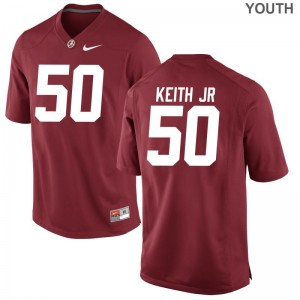 Bama Youth(Kids) Game Vohn Keith Jr. Jerseys S-XL - Red