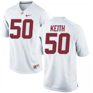 Alabama Vohn Keith Player Jersey Game Mens - White