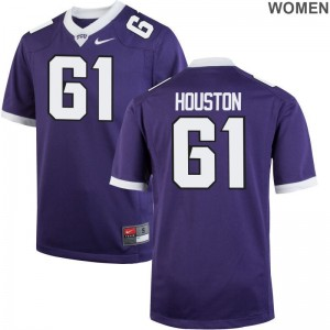 Horned Frogs Wil Houston Jersey For Women Purple Limited Jersey