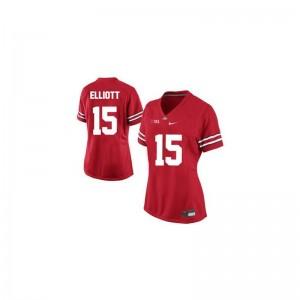 Ohio State High School Jerseys Ezekiel Elliott Ladies Limited - #15 Red