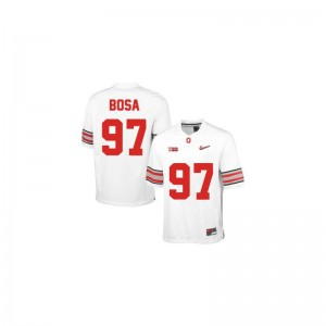Ohio State Game Joey Bosa Ladies College Jersey - #97 White Diamond Quest Patch