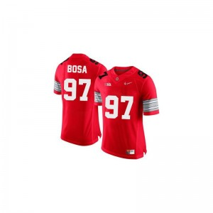 Joey Bosa Jerseys OSU #97 Red Diamond Quest Patch Limited Ladies Jerseys