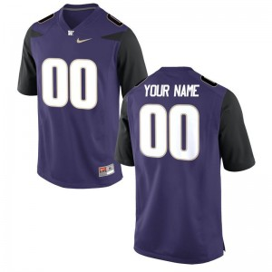 Limited UW Huskies Kids Customized Jersey - Purple