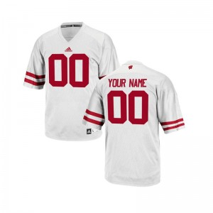 University of Wisconsin Customized Jerseys Limited For Kids White Customized Jerseys