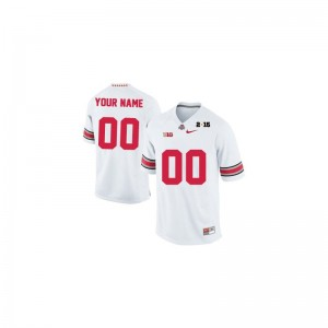 For Kids Customized Jerseys Limited Ohio State - White 2015 Patch