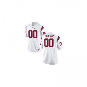 Trojans Custom Jerseys Youth(Kids) Limited - White