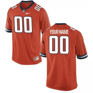 Illinois Fighting Illini Custom Jerseys Youth Limited Orange Custom Jerseys