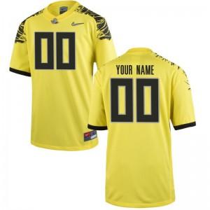 S-XL University of Oregon Custom Jersey High School Kids Limited Yellow Custom Jersey