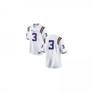 Game #3 White Youth(Kids) LSU High School Jerseys of Kevin Faulk