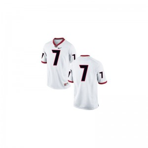 For Kids Matthew Stafford Jerseys Player #7 White Game University of Georgia Jerseys
