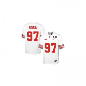 Joey Bosa Ohio State Alumni Jersey Limited For Kids Jersey - #97 White Diamond Quest 2015 Patch