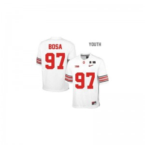 Joey Bosa For Kids College Jerseys Limited Ohio State - #97 White Diamond Quest National Champions Patch