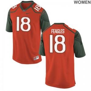 For Women Zach Feagles Jerseys High School Orange Limited Miami Jerseys