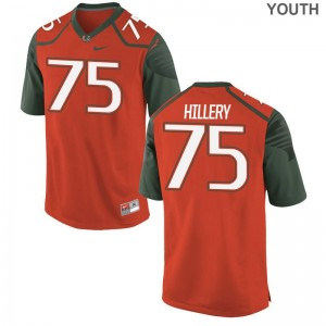 Zalon'tae Hillery NCAA Jersey Kids Miami Game Orange