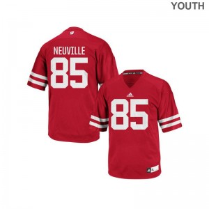 University of Wisconsin Football Jerseys Zander Neuville Youth Red Authentic