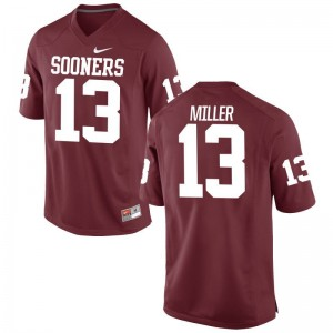 For Men A.D. Miller Football Jersey Oklahoma Sooners Game - Crimson
