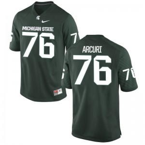 AJ Arcuri Mens Jerseys S-3XL Green Spartans Game