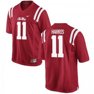 Game Red For Men University of Mississippi High School Jerseys A.J. Harris