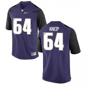 University of Washington A.J. Kneip Jerseys S-3XL Purple Game For Men