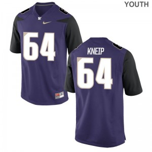 A.J. Kneip For Kids Jersey UW Huskies Limited - Purple