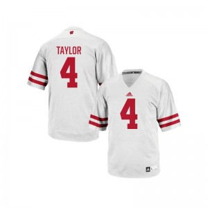 UW A.J. Taylor White Replica For Men Player Jersey
