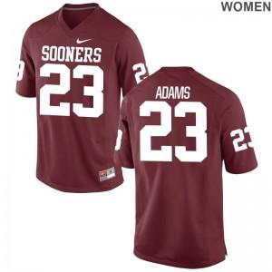 Abdul Adams College Jersey For Women OU Sooners Game Crimson