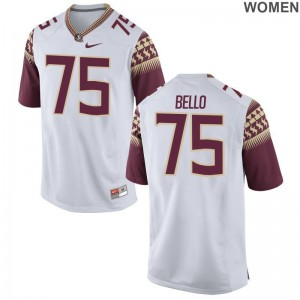 Abdul Bello For Women High School Jerseys FSU Seminoles Game White