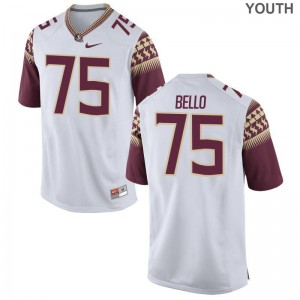 Florida State Seminoles Abdul Bello Game For Kids College Jersey - White