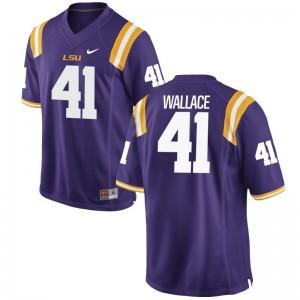 Abraham Wallace High School Jersey Tigers Men Game - Purple