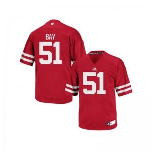 Adam Bay Jersey S-3XL Men UW Red Authentic