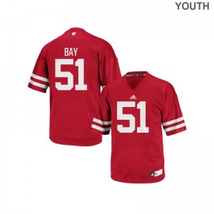 Wisconsin Badgers Adam Bay Authentic Youth College Jersey - Red